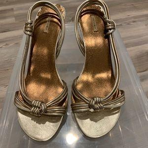 Women's Size 9 Gold Shoes